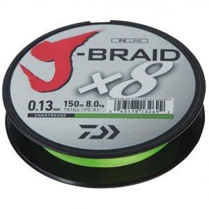 Daiwa J-Braid Chartreuse Kuitusiima 150 M